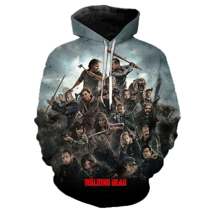 The Walking Dead 3D Printed Hoodie Sweatshirts Horror TV Drama Fashion Casual Pullover Men Women Halloween Streetwear Hoodies