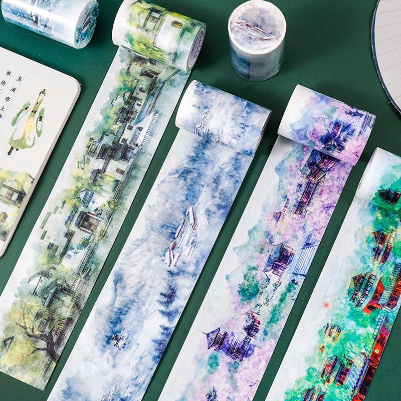 10 pcs 1 lote washi mascaramento fitas recordando jiangnan decorativo adesivo scrapbooking diy papel japones adesivos