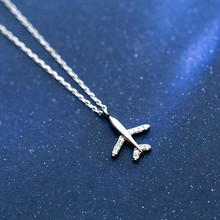 100% 925 Sterling Silver Necklace Jewelry Travel Aircraft Ai
