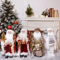 ABXMAS Neue Jahr 2022 Weihnachten Dekorationen Für Home 45cm Santa Claus Puppe Kinder geschenke Weihnachten Weihnachten Baum Ornamente Navidad
