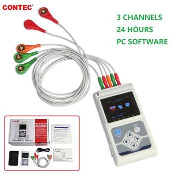 3 kanały holterowskie EKG EKG metodą holtera dynamiczny Monitor EKG 24 godzin rejestrator EKG TLC5007 9803 tanie i dobre opinie Contec Z Chin Kontynentalnych Elektroniczne urządzenie do pomiaru tętna
