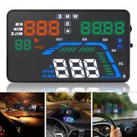 Evrensel Q7 ekranı ile 5.5 inç araç araba oto HUD GPS Speedometers aşırı hız uyarı Dashboard cam projektör