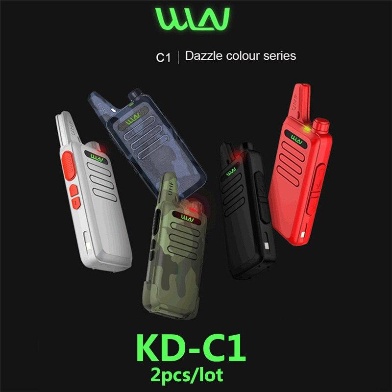 2 шт. WLN KD C1 Мини Портативная рация ручной 2 Way Ham радио hf приемопередатчик USB зарядка KD-C1 uhf рации wln KDC1