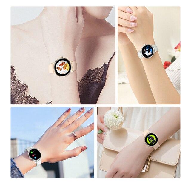Mulher relógio inteligente tempo real previsão do tempo atividade rastreador monitor de freqüência cardíaca esportes senhoras relógio inteligente masculino para android ios 5