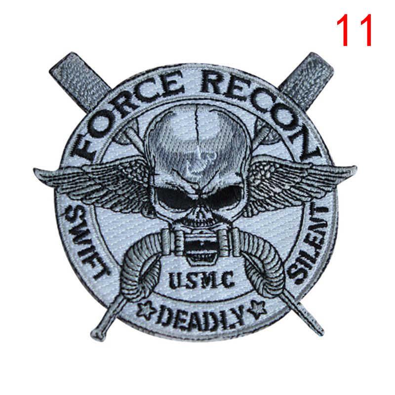 3D パターン刺繍が軍事バッジパッチ軍ロゴ腕章スティックアームウォーマーセット
