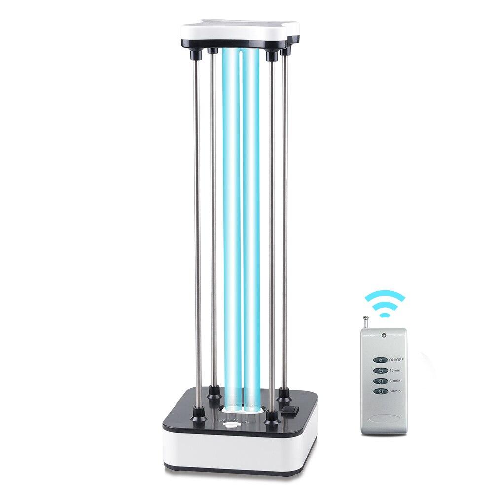 Lampes de désinfection à ultraviolets 36W 60W, minuterie de désinfection à Quartz avec télécommande, lampes de stérilisation à ultraviolets 110V...