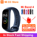 Auf Lager Xiaomi Mi Band 4 AMOLED Bildschirm Herz Rate Fitness Tracker Miband 4 Bluetooth 5,0 Wasserdichte 5 farbe Smart sport Armband