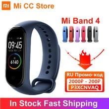 Xiaomi – Bracelet connecté Mi Band 4, écran AMOLED, moniteur de fréquence cardiaque, moniteur d'activité physique, bluetooth 5.0, étanche, 5 couleurs, en Stock