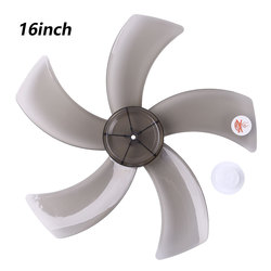 16 pouces en plastique ventilateur lame cinq feuilles avec écrou couvercle pour piédestal debout ventilateur Table Fanner accessoires généraux Fanner pièces