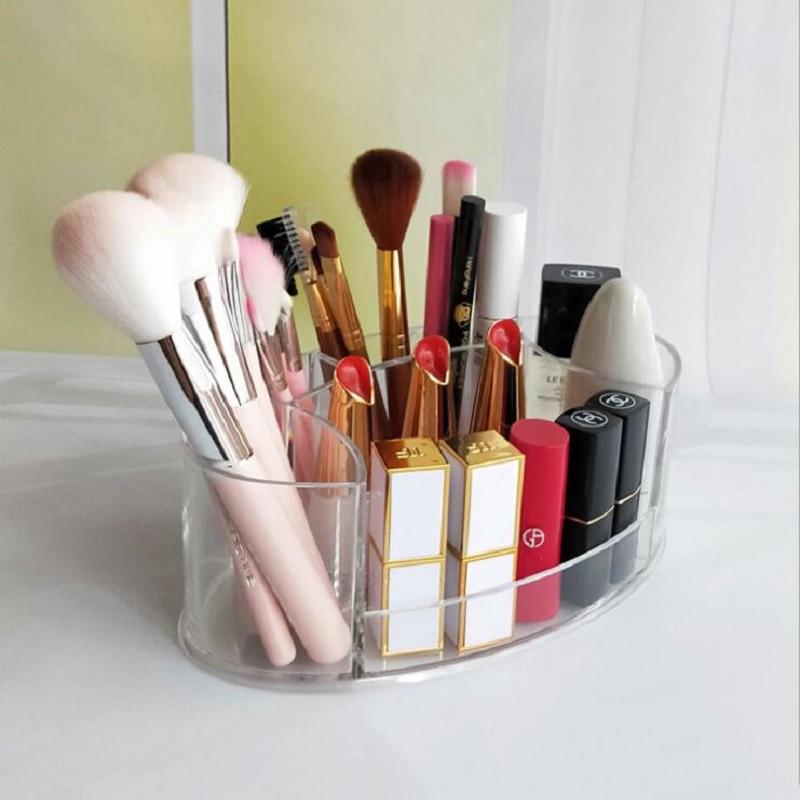 Acrylic Makeup Organizer Cosmetic Box Plastic Storage Box Desk Bathroom Cosmetic Storage Case Office Organizer
