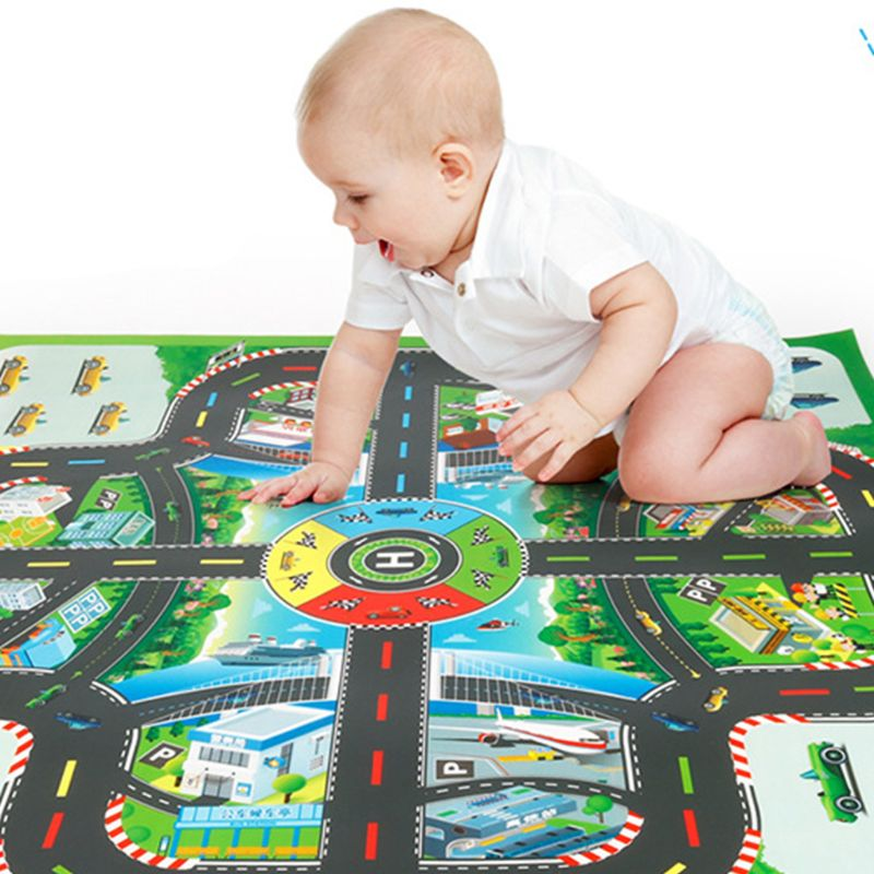 Children Educational Toys Kids Baby Play Mat Car Flying Chess Racing Game Pad