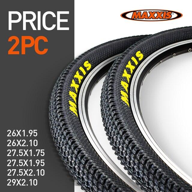 2個maxxis 26自転車タイヤ26*2.1 27.5*1.95 60TPI mtbマウンテンバイクのタイヤ26*1.95 27.5*2.1 29*2.1自転車タイヤまたはインナーチューブ