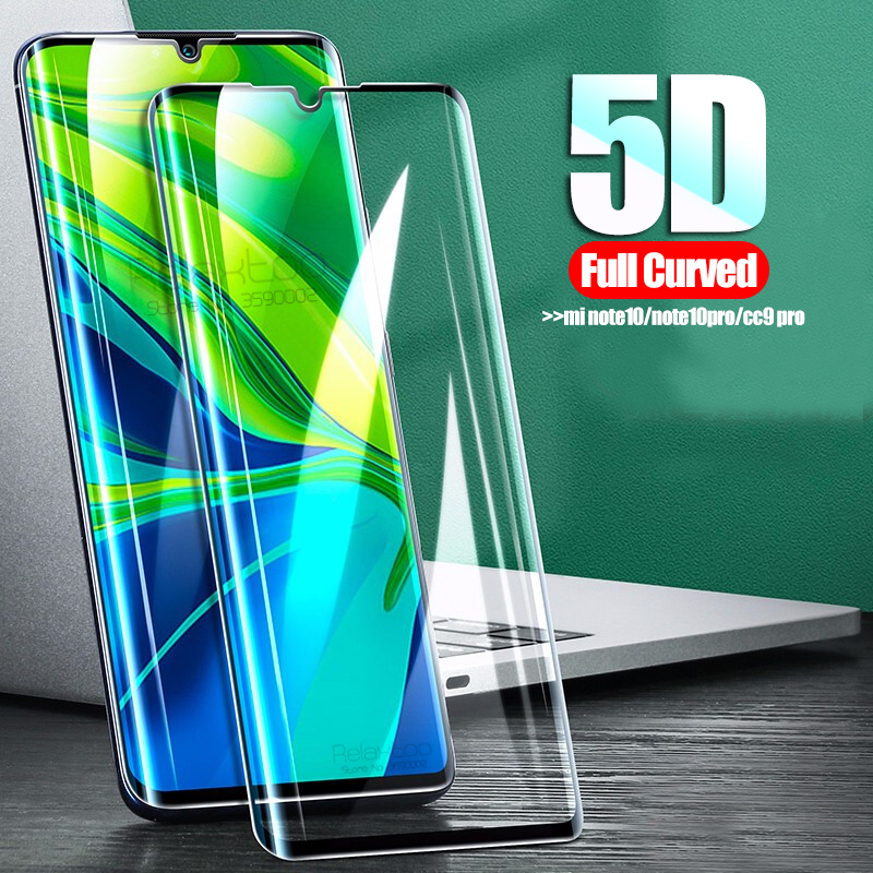 5D Curved Protective Glass For Xiaomi Mi Note 10 Pro Glass Screen Protector On Xiomi Mi Note10 Cc9 Pro 10pro Tempered Glas Film