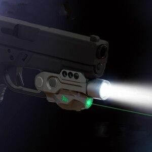 Новый продукт тактический зеленый лазерный прицел и светодиодный светильник комбинированный Интеллектуальный для Пикатинни Вивера писто...
