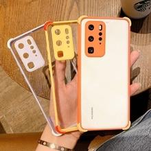 Fashion Luxury Shockproof Phone Case For HUAWEI P30 P40 Pro Mate 30 Pro Transpar