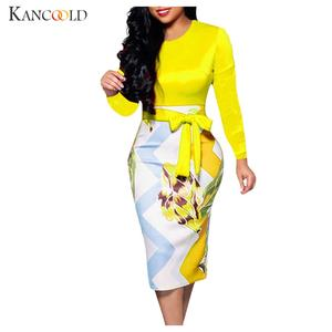 KANCOOLD Tight-Dress Chapel-Gown Fishtail Long-Sleeve Round-Neck New-Product Zipper Sexy