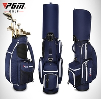 Pgm Retractable Golf Bag Wheels Stand Caddy Airbag Nylon Designed Golf Bag Travelling Aviation Package Large Capacity D0479