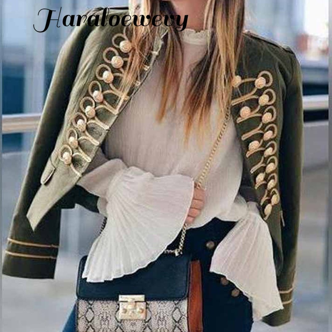 2019 New Autumn Embroidered Jacket Winter Tribal Print Office Lady Ms. Jacket And Jacket Vintage Autumn Long Sleeve Jacket