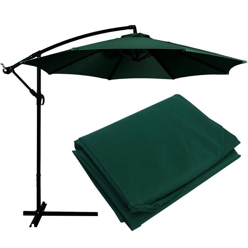 1pc Beach Umbrella Canopy UV Protection Umbrella Canopy Outdoor Umbrella Canopy without Umbrella Stand 300cm (Dark Green)