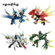 142pcs Ninja Dragon Knight Building Block Senbao Childrens Toys Compatible with DIY Boy Friends JM105