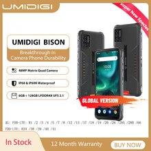 Umidigi bison ip68/ip69k impermeável smartphone áspero telefone 6/8gb + 128gb nfc 48mp matriz quad câmera 6.3
