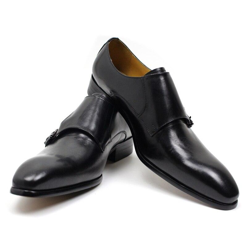 FELIX CHU Mens Echtes Leder Klassische Oxford Kleid Schuhe Doppel Mönch Schnalle Plain Kappe Mann Hochzeit Schuhe Gestreiften Muster-in Formelle Schuhe aus Schuhe bei  Gruppe 3