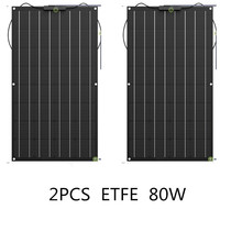 ETFE film Monocrystalline Lightweight 80Watt Flexible Solar Panel for Marine & RV/Boat/Other Off Grid Applications