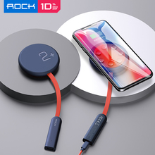 ROCK Double Side Wireless Charger Suction Cup Fast Wireless Charging Pad 15W Qi Charger for iPhone XS 8 11 Pro Huawei 무선충전패드