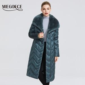 Image 3 - MIEGOFCE 2020 New Collection 여성 자켓 토끼 칼라 여성 겨울 코트 비정상적인 색상 방풍 겨울 파카