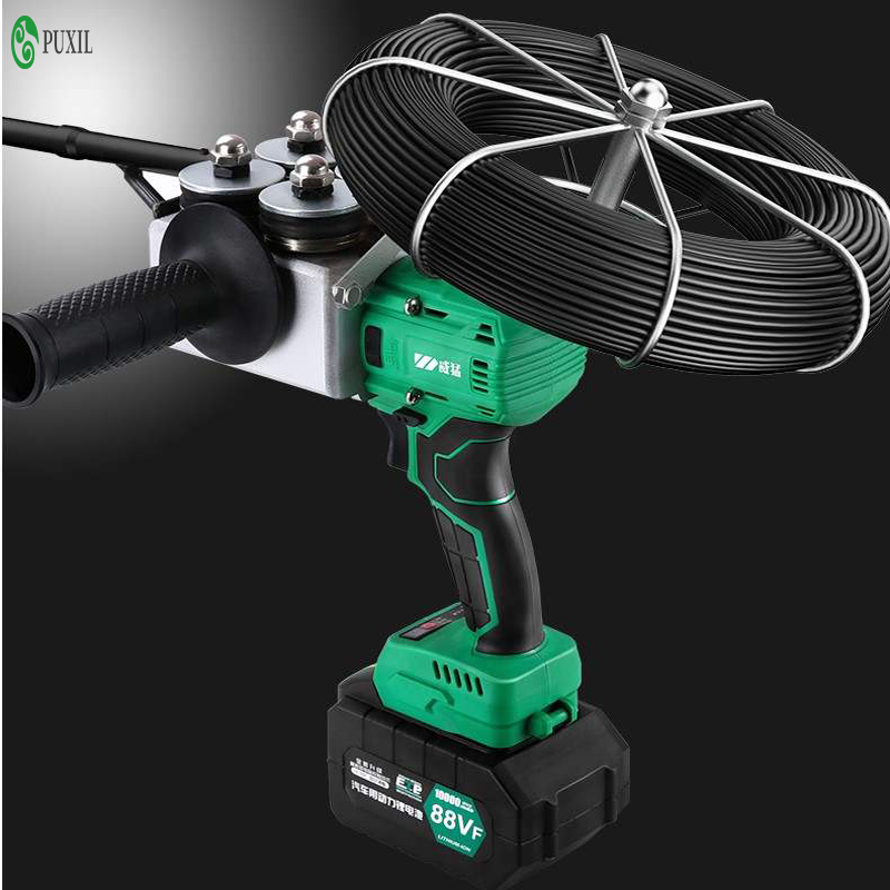 New CX-8006 88VF 10000MAN Electrician Fully Automatic Wall Threading Machine Electric Charging Cable Threading Machine 40m / Min