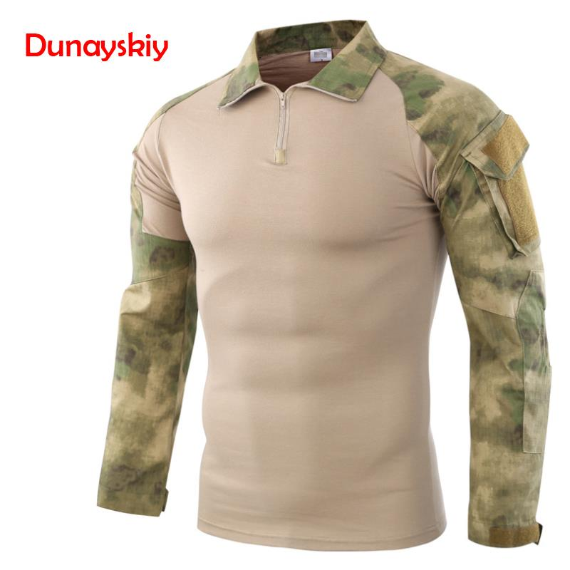 Army Tactical Military Uniform Airsoft Camouflage Combat-Proven Shirts Rapid Assault Long Sleeve Shirt Battle Strike