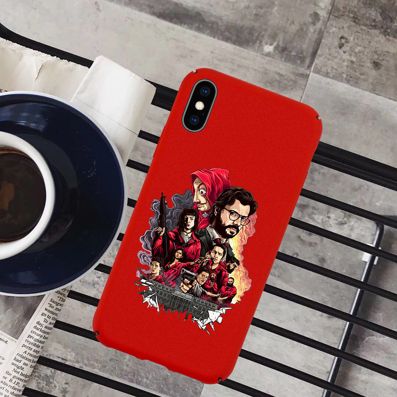 TV Series Money Heist House of Paper Case Silicone Hard PC Phone Cover for IPhone XS Max 8 7 6 8plus XR 10 Coque Fundas