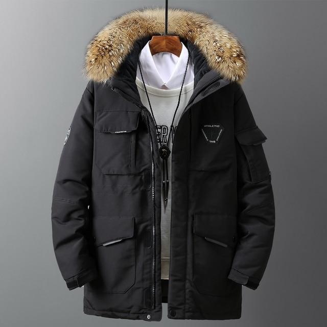 Large size loose coat Men Winter Jacket Men Hooded Duck Down Jacket Male Windproof Parka Thick Warm Overcoat coats 5858 2