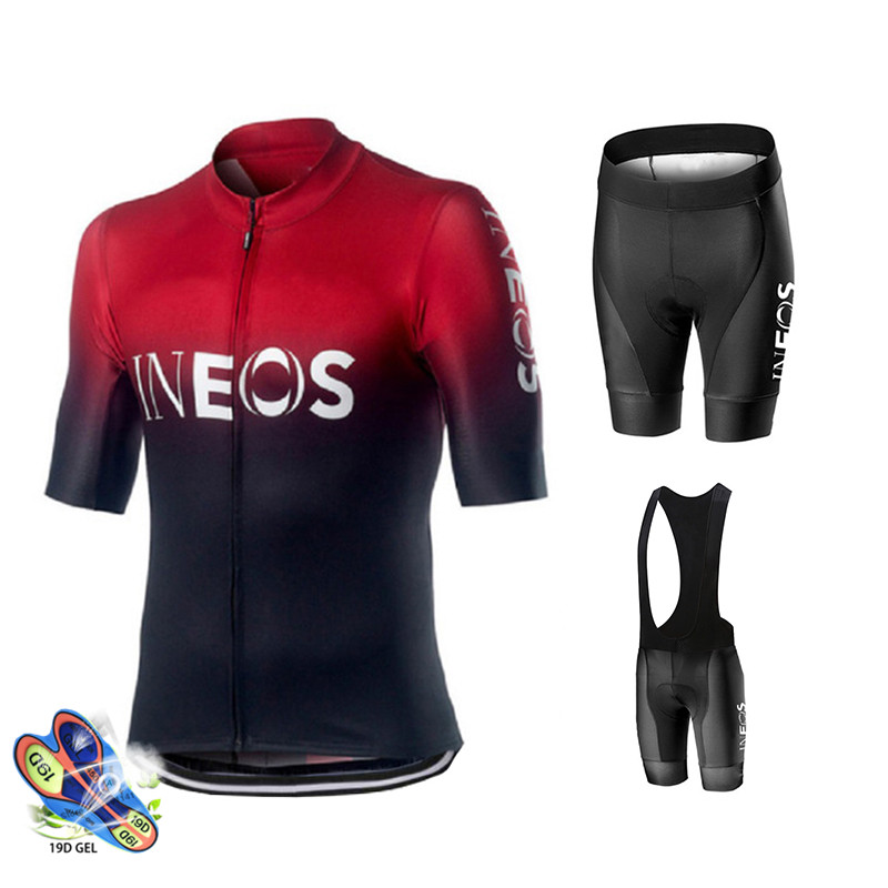 Mtb Bike Jerseys Clothing-Set Bicycle-Uniform Cycling Team-Ineos Racing Summer Sport