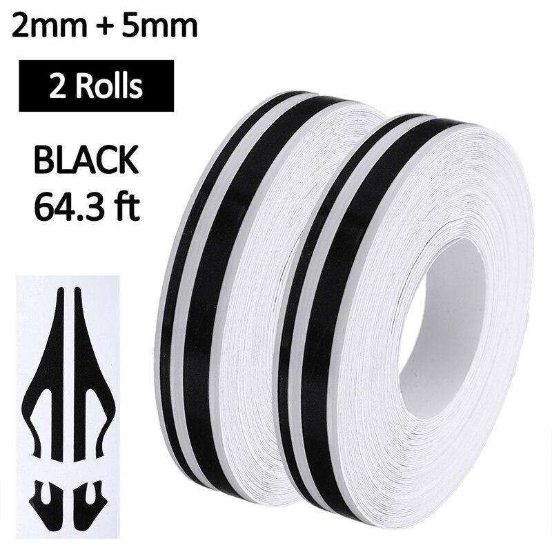 2 rolo 32ft listra preta adesivo de vinil fita do corpo do carro adesivos estilo do carro para a motocicleta do carro barco decoração