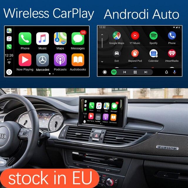 واجهة Apple CarPlay اللاسلكية لأودي A6 ، A7 ، 2012 2018 ، مع وظيفة HDMI ، رابط المرآة ، AirPlay ، Android ، للسيارة