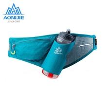 AONIJIEกีฬาเอวแพ็คเข็มขัดกันน้ำเข็มขัดแพ็คสำหรับมาราธอนJoggingขี่จักรยานHydrationขวดE849