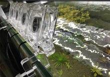 Mini clipe de resfriamento para aquário, filtro de aquário transparente com clipe de temperatura para tanque de coral, 110v a 240v reduzir a reduzir