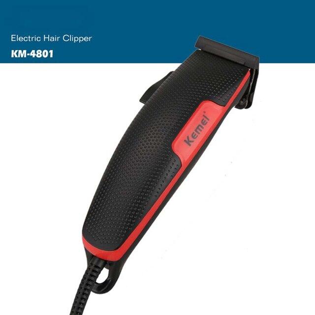 Kemei KM 4801 şarj edilebilir saç kesme erkek profesyonel elektrikli saç makasları saç düzeltici saç kesme makinesi sakal berber
