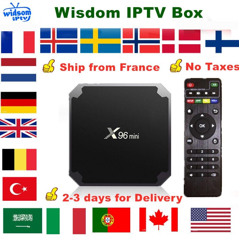 French IPTV X96 Mini Smart Android TV Box IPTV Subscription France Spain German Portugal UK Arabic Dutch Sweden Poland IPTV M3U