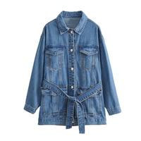 2019 Vintage women denim ripped jackets Casual blue jean jacket coats Autumn winter fashion short streetwear outerwears