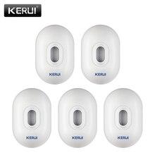 KERUI-Sensor de movimiento PIR impermeable para exteriores, Detector para sistema de alarma de seguridad inalámbrico, 5 p/lote, alarma antirrobo para garaje, P861