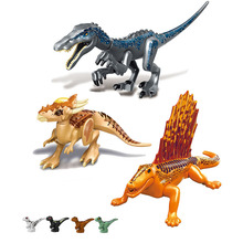 Jurassic Dinosaurs World Baby Figures Building Tyrannosaurus  Blocks Kids Toy