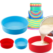 4/6/8inch Silicone Cake Round Shape Mold Kitchen Bakeware DIY Desserts Baking Mousse Moulds Pan Tools