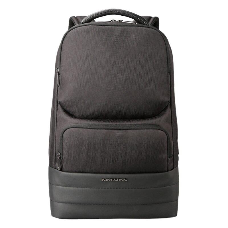 Kingsons hommes sac à dos 2.0 USB recharge hydrofuge sacs à dos d'ordinateur portable hommes affaires mode sacs à bandoulière technologie noire