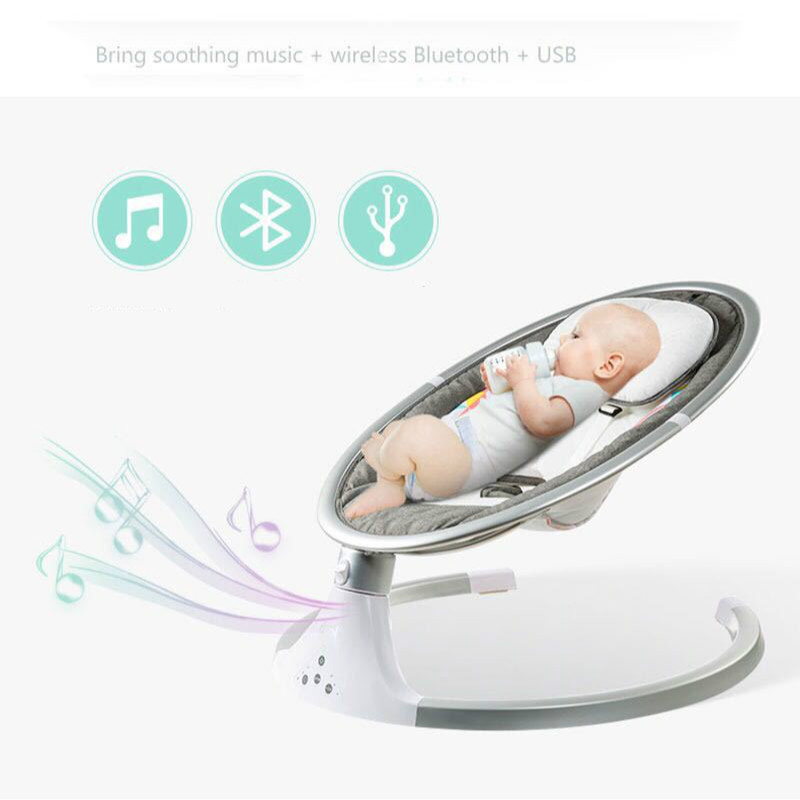 Baby Electric Cradle Appease Swing Bed Newborn Smart Rocking Chair Infant Shaker With Music