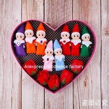 Freies Verschiffen 100 PCS Große Qualität Baby Elf Puppe Weihnachten Dekorationen Baby Elf Puppen Spielzeug Neue Jahr Baby Spielzeug Kinder mini Elfen