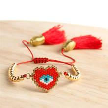Go2boho Evil Eye Bracelet Women Delica MIYUKI Charm Turkish Bijoux 2019 Jewelry Handwoven Japna Gold Plastic Beads