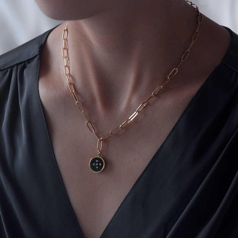 قلادة نسائية صغيرة جديدة موديل 2019 خالية من الحمى والحرج موضة ذهبية هندسية مجوهرات حفلات كولير Collares De Moda 2019 شحن مجاني