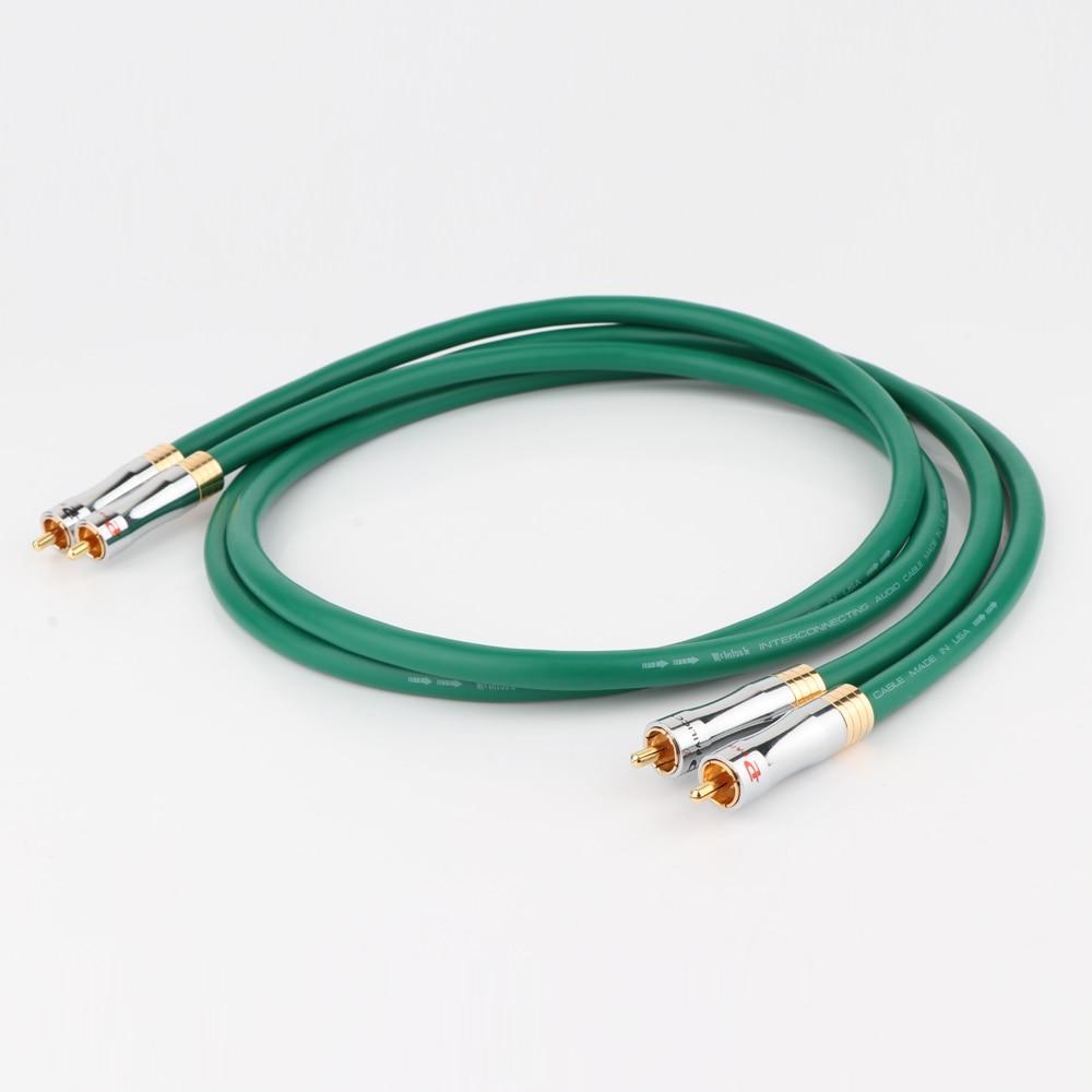 Mcintosh 2328 99.998% cabo de áudio hifi, cabo de cobre puro, interconexão rca, audiofil rca para rca